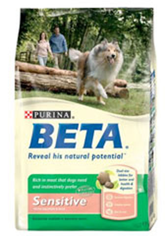 A bag of Purina Beta Sensitive