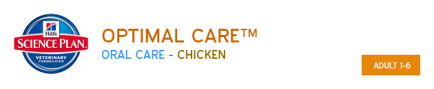 Hills Science Plan Optimal Care Adult Oral Care Chicken available from VioVet