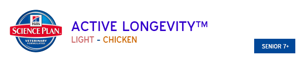 Hills Science Plan Active Longevity Light Chicken available from VioVet