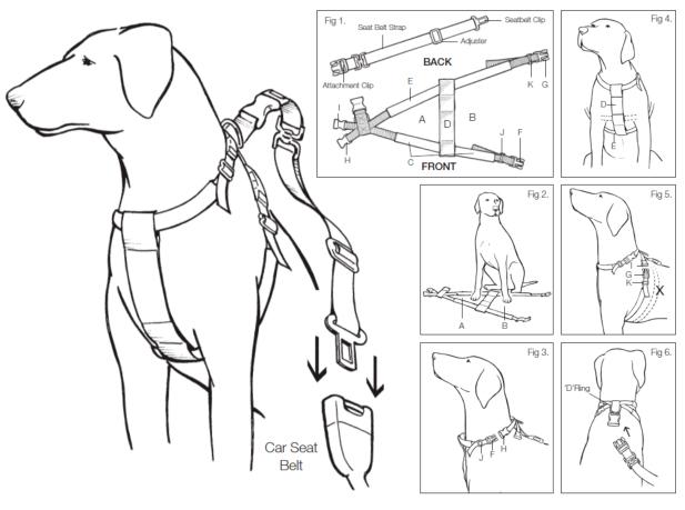 Mikki Car Dog Harness