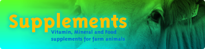 Vitamin, Mineral and Food Supplements for farm animals.