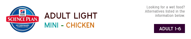 Hills Science Plan Adult Light Mini Chicken available from VioVet