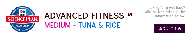 Hills Science Plan Advanced Fitness Medium Tuna & Rice available from VioVet