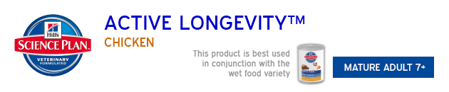 Hills Active Longevity mature Adult Chicken available from VioVet