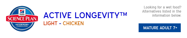 Hills Active Longevity Light Chicken available from VioVet